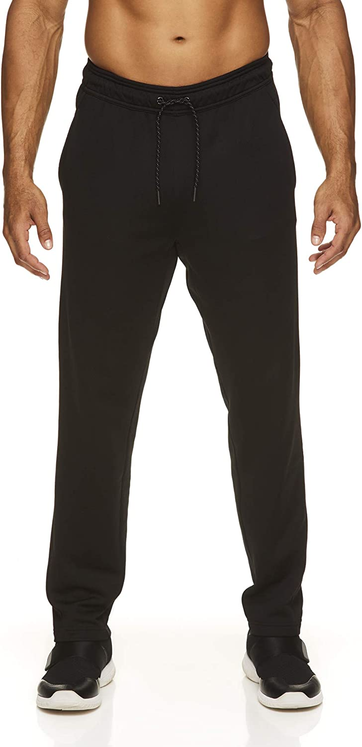 Reebok Men's Track & Running Pants with Pockets - Athletic Workout Training & Gym Pants for Men