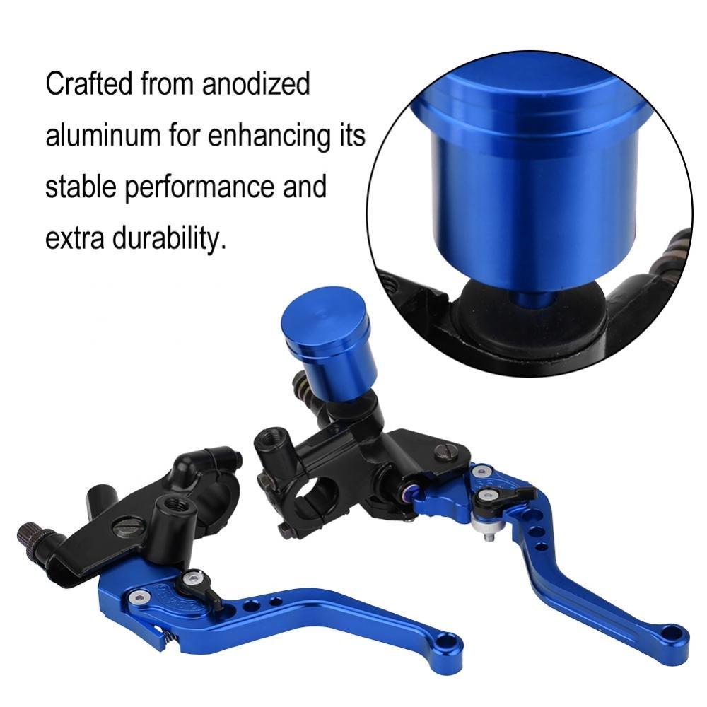 Black Qiilu QL06122 Coppia di 22mm CNC Pompa idraulica freni Pompa frizione Leva cilindro principale regolabile