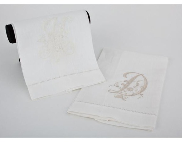 Monogrammed Guest Towels | MTYCI - Luxury Gifts, Decor & Consignment Store