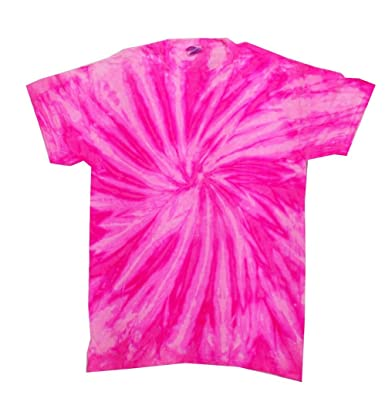 Buy Cool Shirts Tie Dye Shirt Neon Bubblegum Pink T-Shirt | Amazon.com