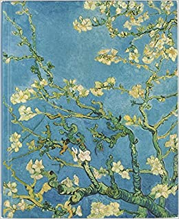 composition notebook large journal wide ruled lined paper writing and journaling book vincent van gogh flowering garden