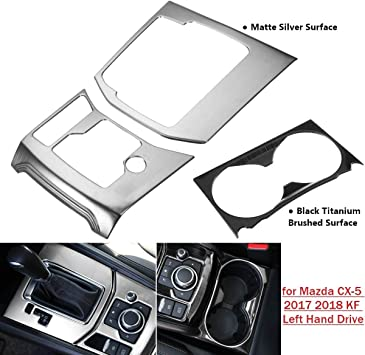 Water Cup Holder Panel Frame Cover Trim For Mazda CX-5 CX5 2017-2018 Decoration