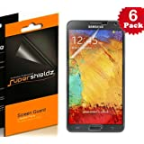 [6-PACK] Supershieldz- High Definition (HD) Clear Screen Protector For Samsung Galaxy Note 3 III -Lifetime Replacements Warranty (AT&T, Verizon, Sprint, T-mobile, All Carriers)- Retail Packaging