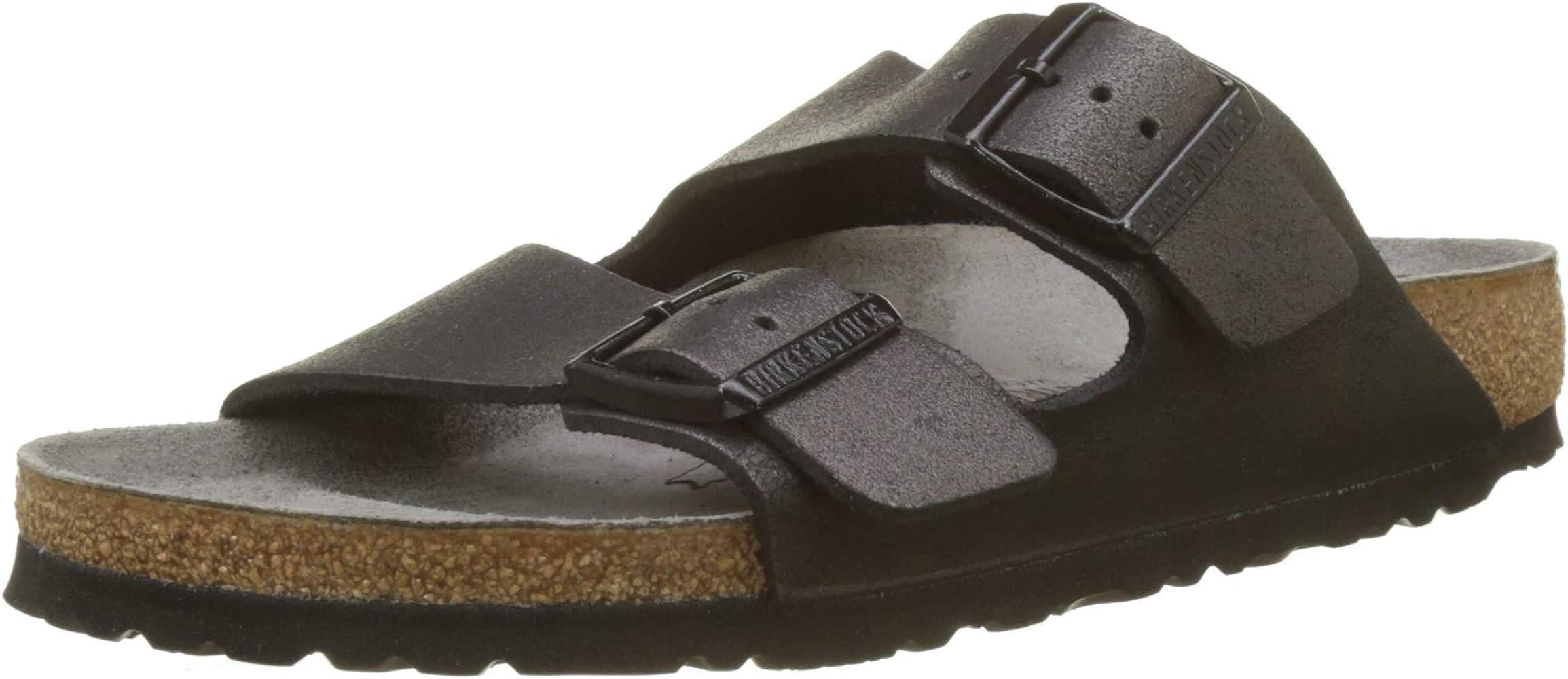 47b89a35e Birkenstock Women's Arizona Open Toe Sandals Washed Metallic Antique Black  ,2.5 UK (35 EU
