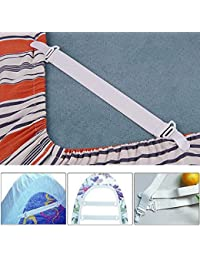 Purchase 2 Sets, 8 X Bed Sheet Mattress Cover Blankets Grippers Clip Holder Fasteners Elastic Set opportunity