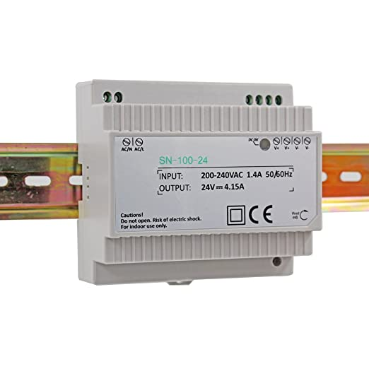 Auforua® AC 230V to DC 100W 24V 4 15Amp Din-Rail Switching Power Supply  Transformer Unit for Industrial and Residential Applications