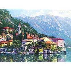 Reflections of Lake Como by Howard Behrens Europe Landscape Italy Print Poster (Choose Your Size)