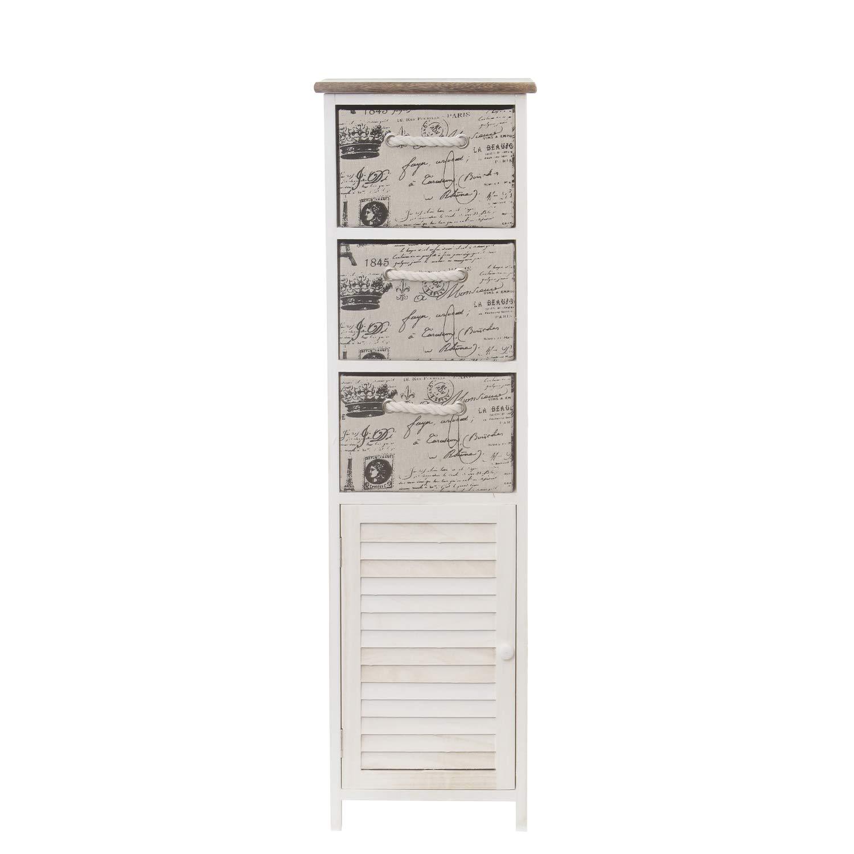Mobiletto in legno, con 3 cassetti KASANOVA