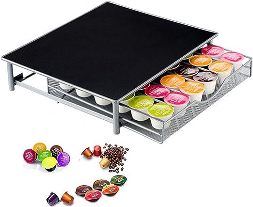 Soporte para máquina de café con cajón/Nespresso Cápsulas de café cajón de almacenamiento 36 cápsulas