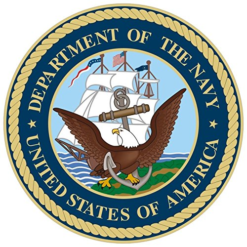 1 Pc Likely Unique United States America Department of The Navy Stickers Sign Outdoor Military Automotive Sticker Decor Car Wall Hoverboard Truck Bumper Decals Trucks Window Decal Size 3.5