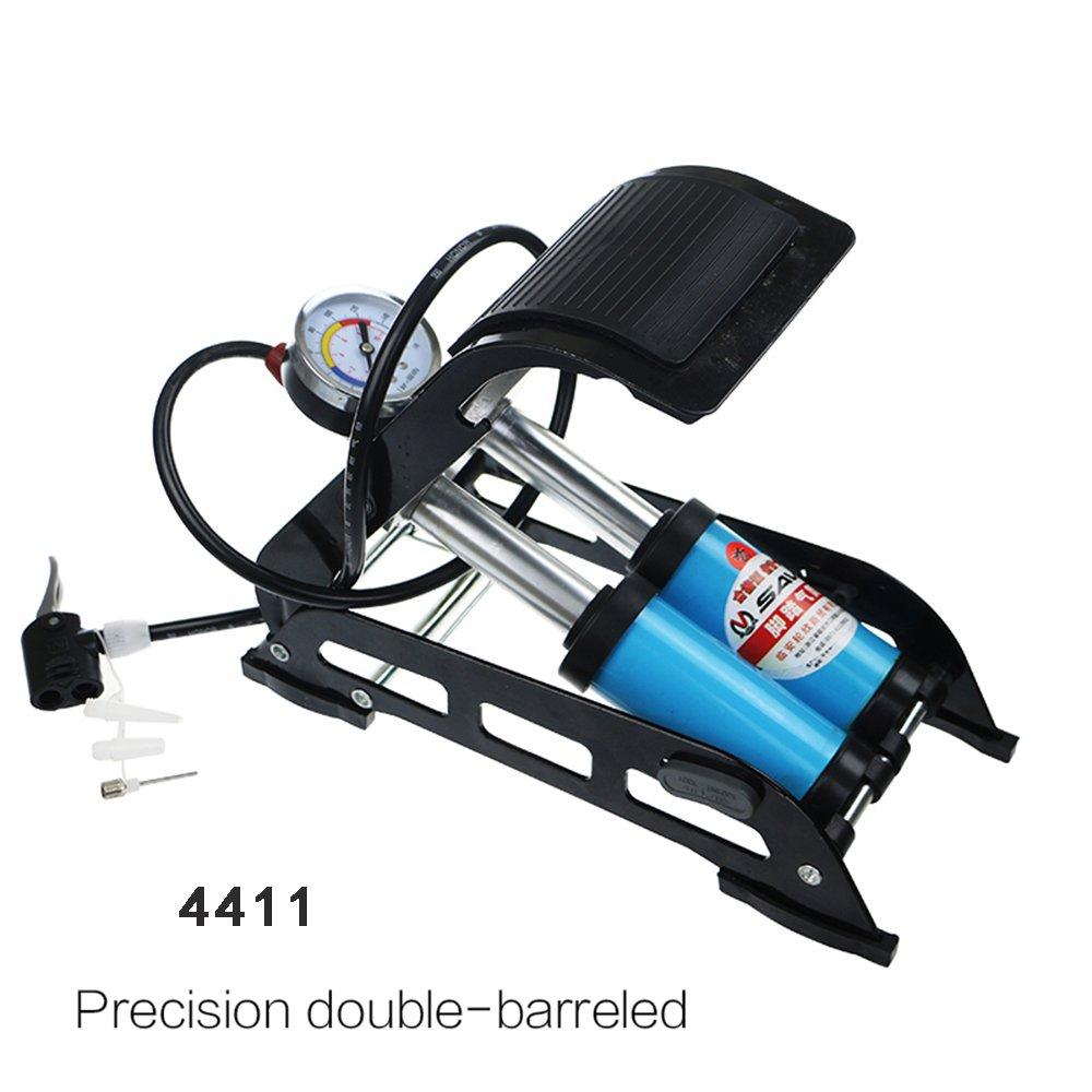 Lo.gas Único/Doble bombín de pie operado Bomba de Aire inflador Coche Van Bicicleta neumático: Amazon.es: Deportes y aire libre