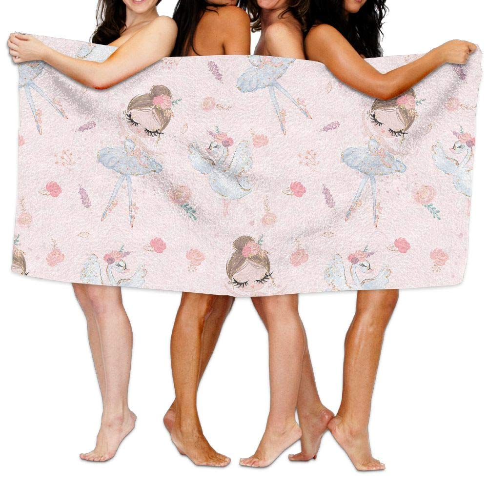 LRIRG Ballet Dance Background Pattern Soft and Super Absorbent Bath Towel, Suitable for Hotel, Swimming Pool, Gym, Beach