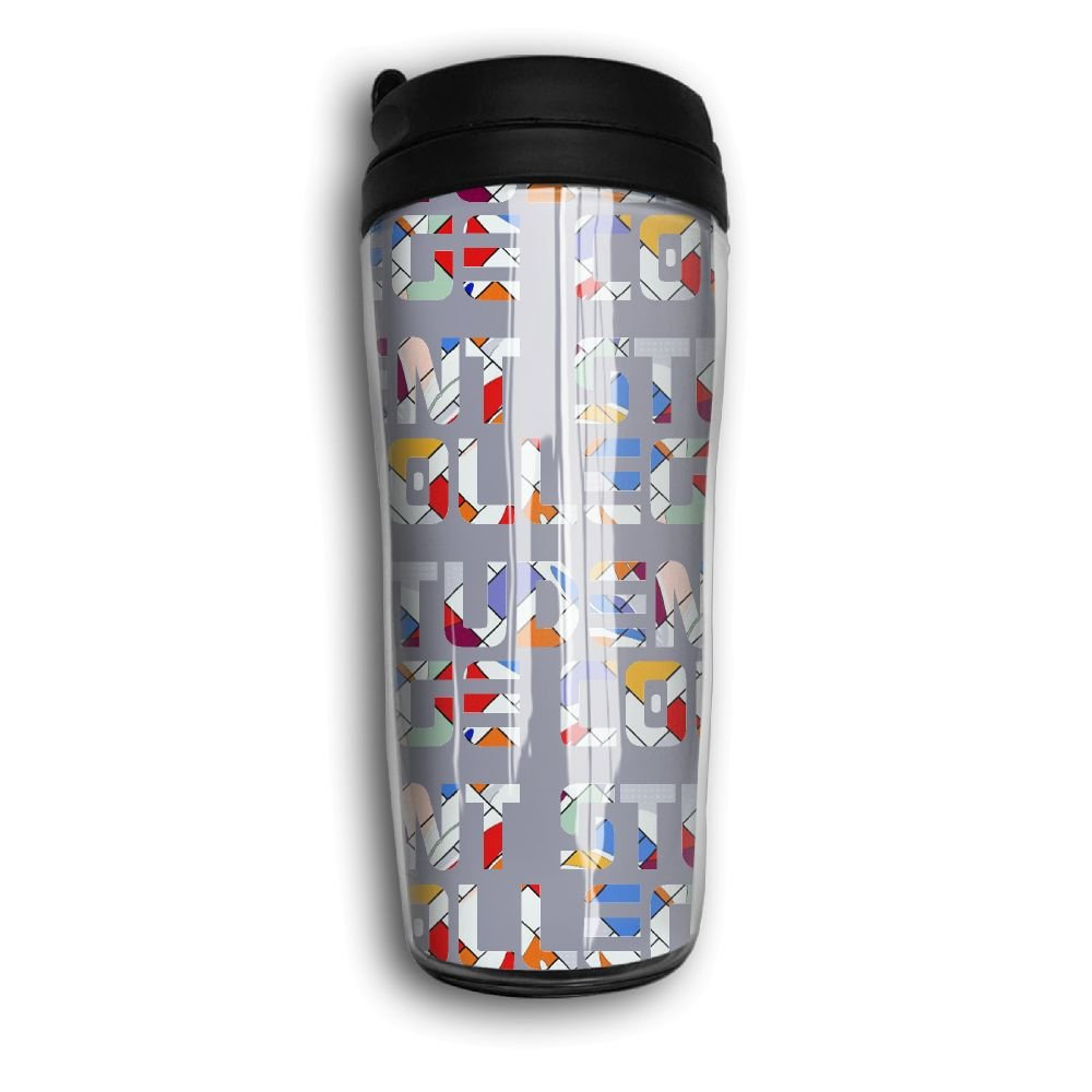 College Student Funny Portable Curved Coffee Cups Vacuum Insulated Mug With Splash Proof Lid
