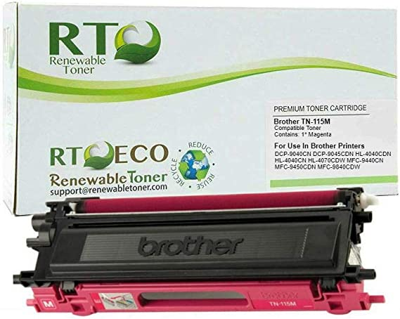 9450CDN 4040CN Magenta 9045CDN; MFC 9440CN 4070CDW; DCP 9040CN 9840CDW Print.After.Print Compatible Toner Replacement for Brother TN115M 4040CDW Works with: HL 4040
