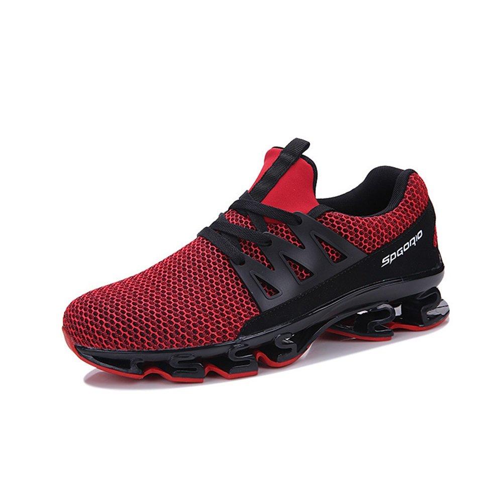 New Zapatillas de Deporte de Malla de los Hombres 2018 Zapatos de Primavera/Otoño de la Manera de Punto de Moda Low Top Amantes Cómodos Zapatos Deportivos Transpirables EU Size 39 EU|Rojo