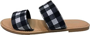 bfe23c5857c7 Sunny Feet Coastline-72S Women Open Toe Slip On Double Band Flip Flops  Slide Flat