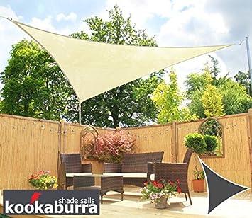 Kookaburra Water Resistant Sun Sail Shade Canopy in Ivory - 3m Triangle  sc 1 st  Amazon UK & Kookaburra Water Resistant Sun Sail Shade Canopy in Ivory - 3m ...