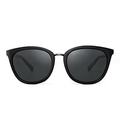 d17f965d12a Polarized Gradient Classic Sunglasses Retro Cat Square Eye Glasses Women  Men (Black Polarized Grey  Amazon.co.uk  Clothing