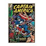 Silver Buffalo MC1936 Captain America Album Issue Wood Wall Art Plaque, 13 x 19 inches