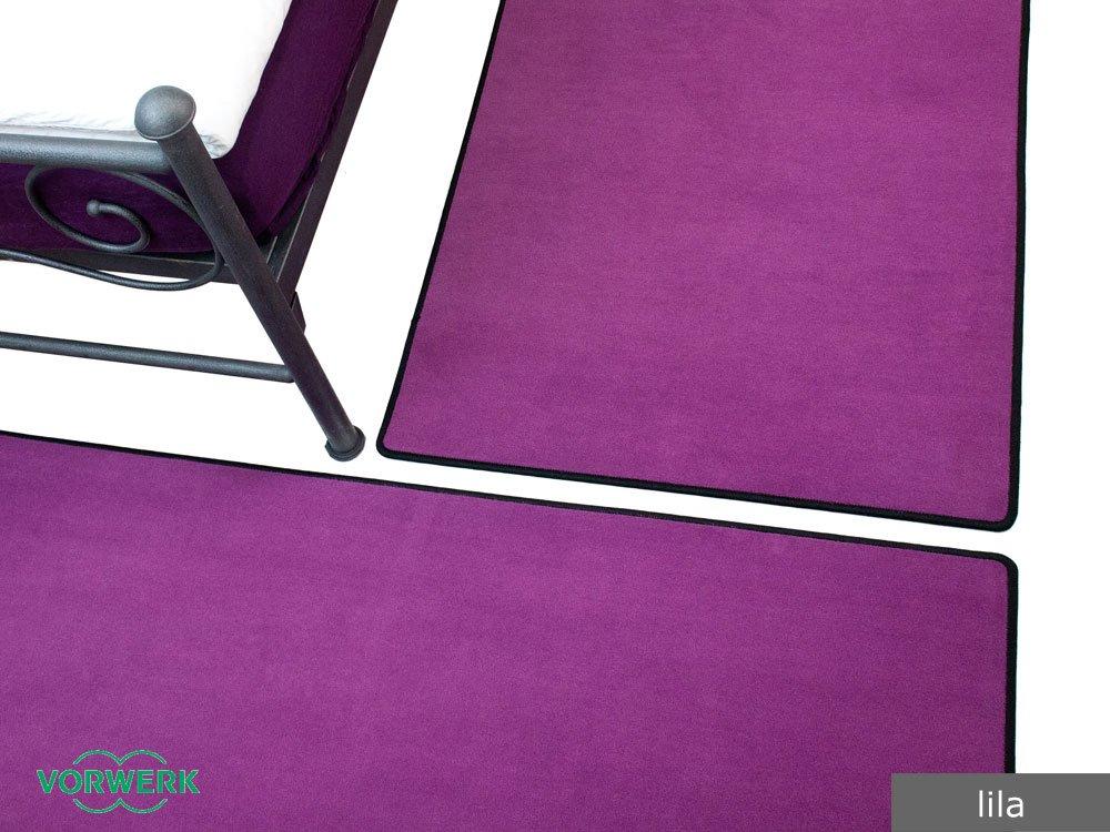 Bijou lila Vorwerk Bettumrandung 3 Teile 2x70x140 cm 1x70x340 cm