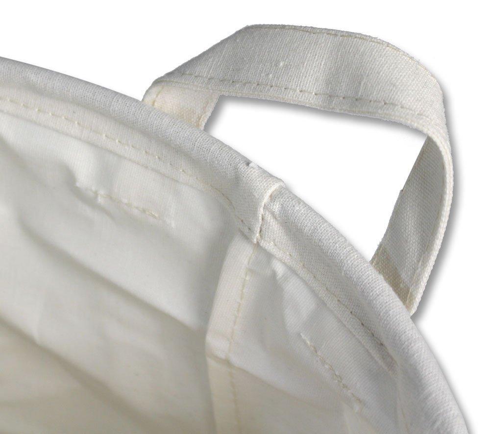 B1 Add water and soap Vetrineinrete/® Cesto portabiancheria in tessuto con manici sacca per panni sporchi biancheria da bagno lavanderia pieghevole 35x45 cm