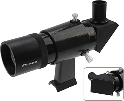 You Will no Longer Need to Strain Your Neck at Difficult Angles and are Also able to Search for Objects which are not so Easy to find Black Astromania 9x50 Angled Finder Scope