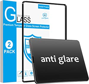 ambison[2 Pack]Matte Glass Screen Protector for iPad Air 4th Generation 10.9 inch/iPad Pro 11 2020&2018[Install Frame]Anti Fingerprint/Bubble Free/Touch Sensitive/No Dazzling for Drawing/Writing/Game