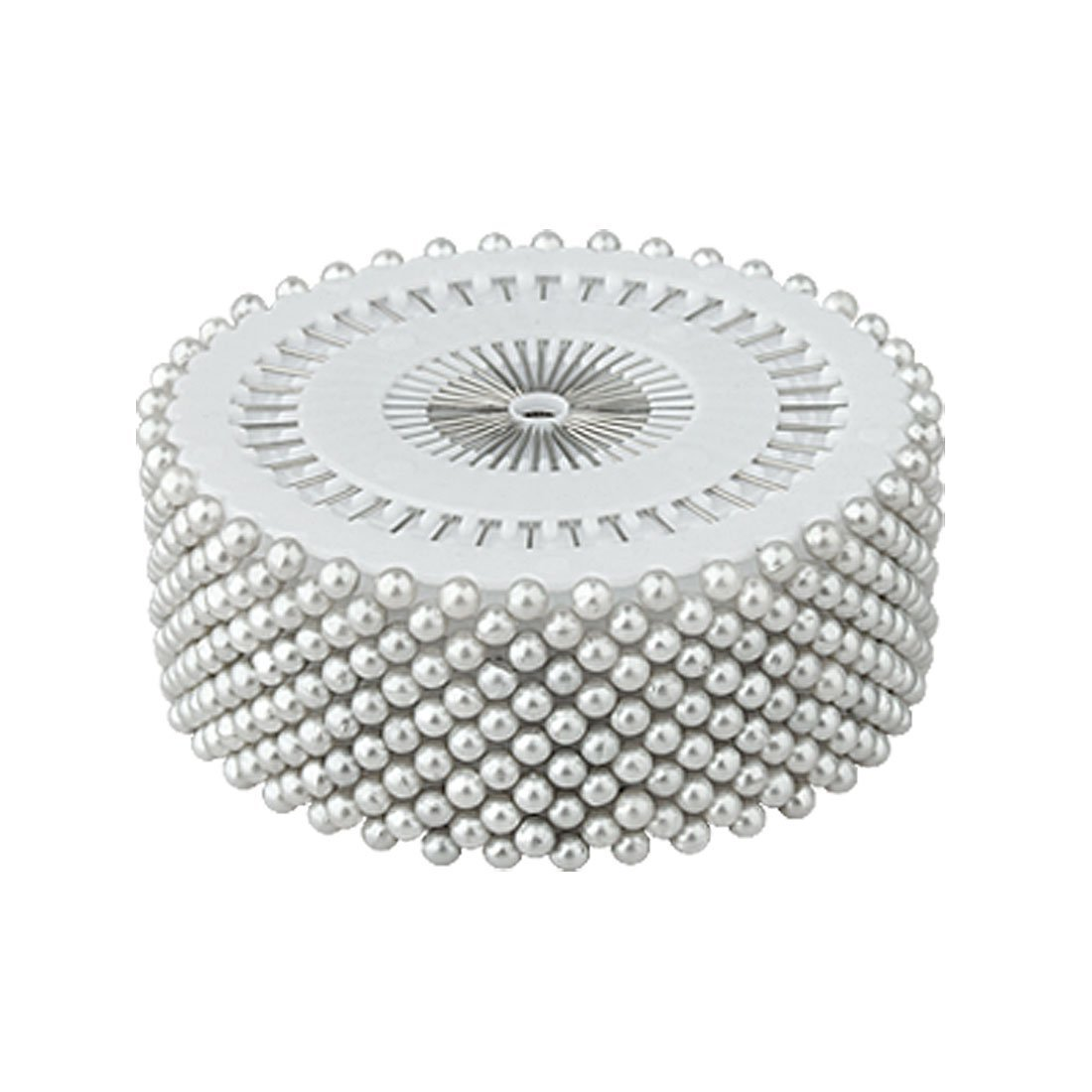 La Tartelette Decorative Round Pearl Straight Head Pins, 1.5 inch - 480 Pcs (White) LTCS-00619