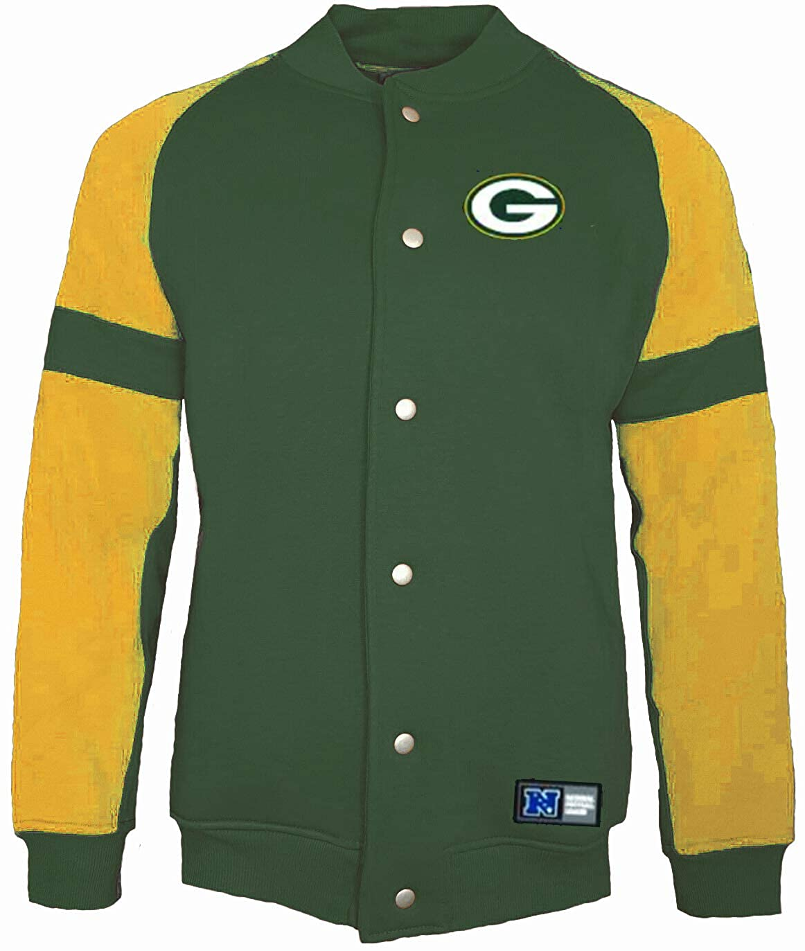 Majestic vert Bay Packers NFL Jeiter Veste Polaire Letterhomme