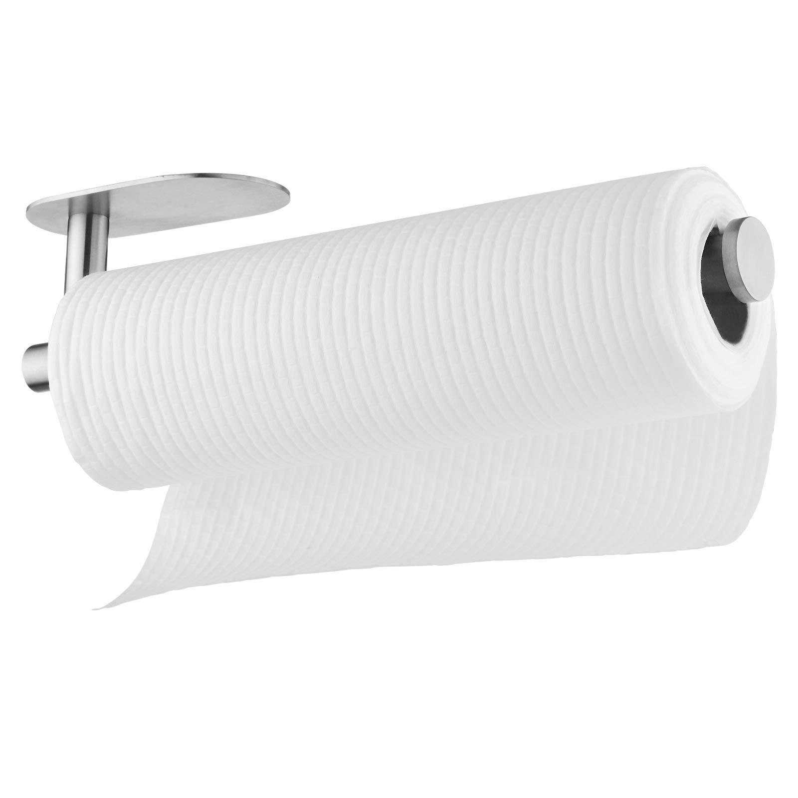 Paper Towel Holder Furnikko Self Adhesive Paper Towel Rack Under Kitchen Cabinet