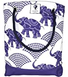 Cheap Bucket Beach Bag, Pool Bag or Travel Tote- California Style Water Resistant (Elephant Rain)
