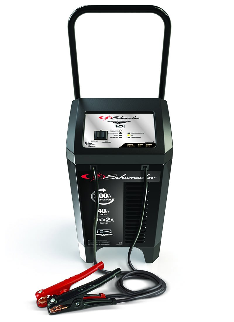 Schumacher SC1285 12V Wheeled Fully Automatic Battery Charger and 40/200A Engine Starter