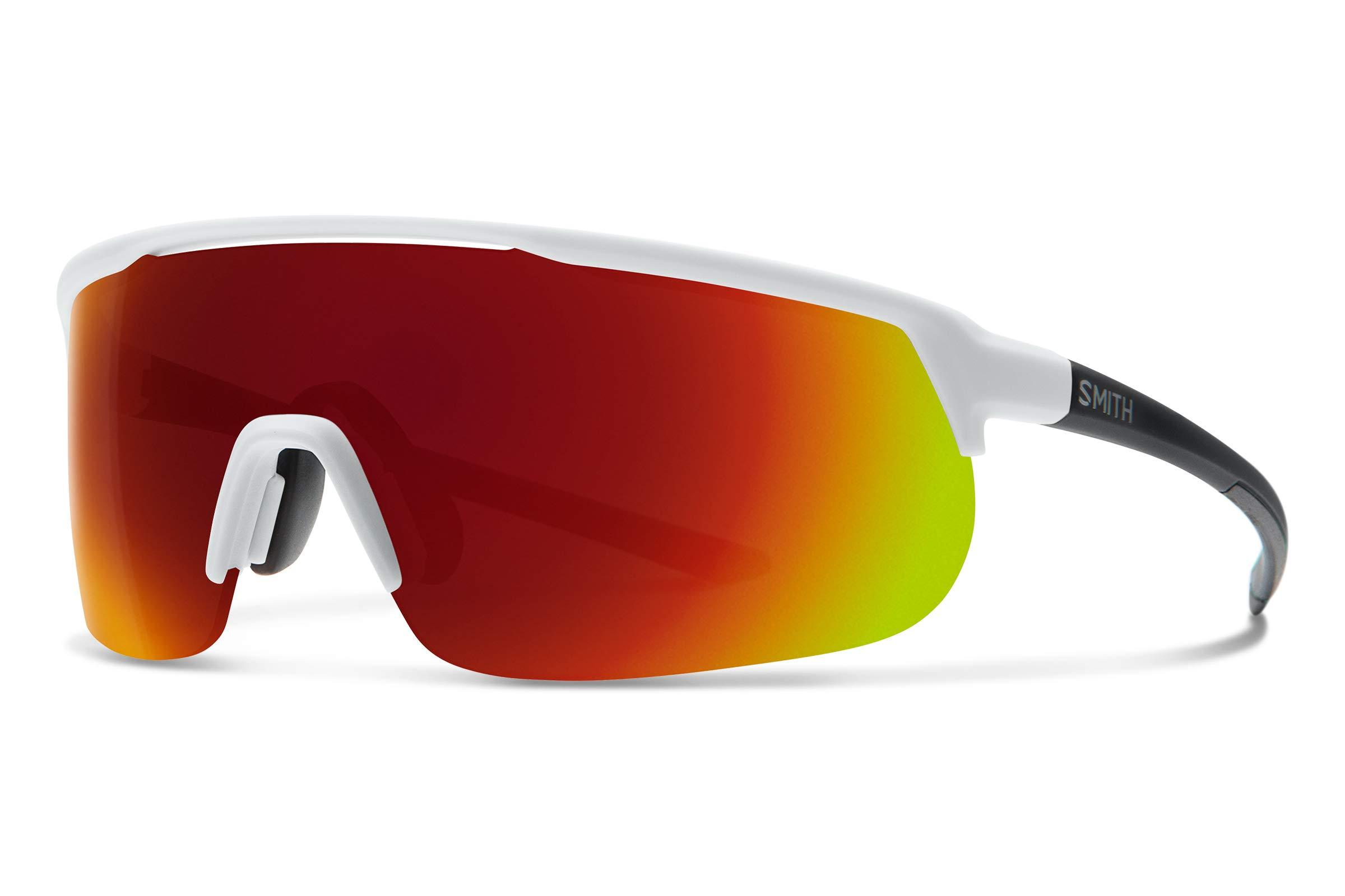 Smith Track Stand Chromapop Sunglasses, Matte White, Chromapop Sun Red Mirror/Contrast Rose