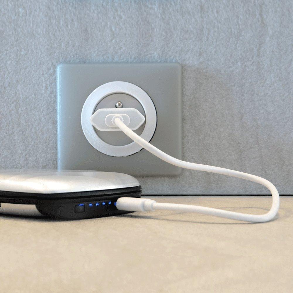 Dise/ño Ultra Ergon/ómico ETL Tarjetero de Aluminio Anti-RFID Powerbank 2000 mAh