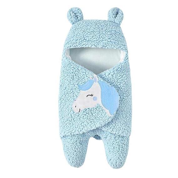 Mitlfuny Invierno Grueso Swaddle Wrap Cordero de Lana Saco de Dormir para Bebé Niños Manto Envolvente
