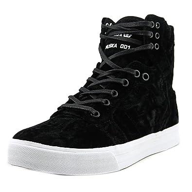 Supra Women\u0027s Skytop \u002717 Shoes,Size 5,Black/White-White