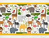 I-love-Wandtattoo b-10001 Nursery Wall Decal Border Safari Child's Room Sticker Boy Girl Baby