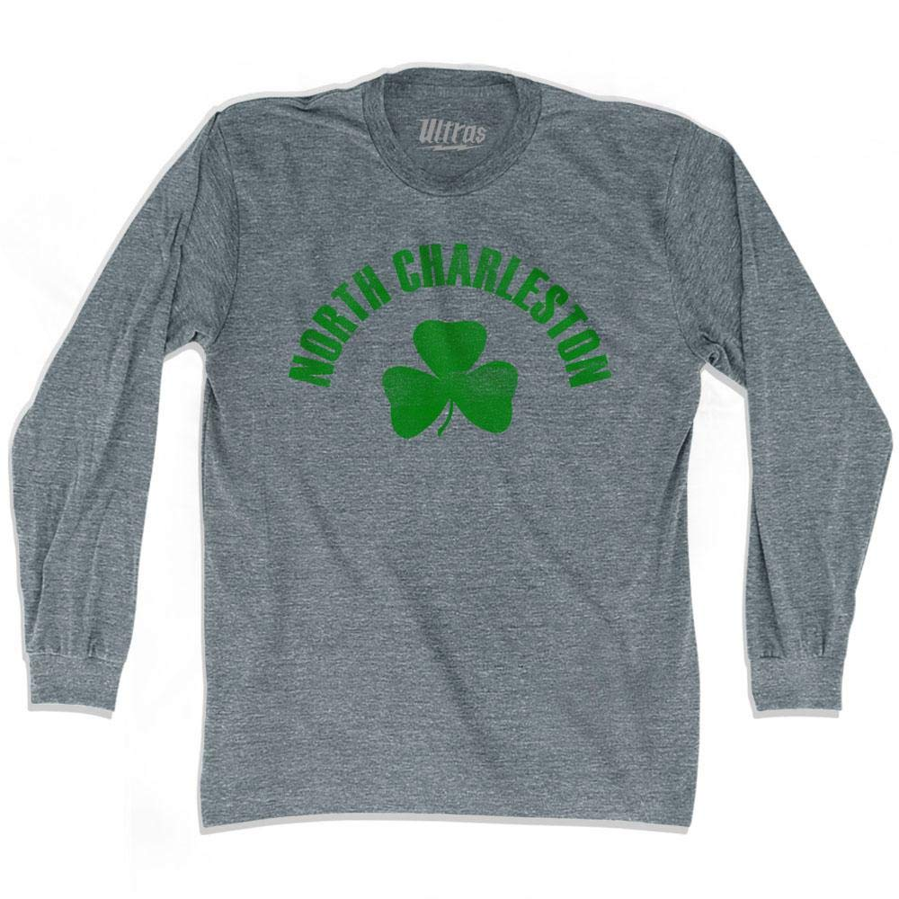 North Charleston City Shamrock Tri-Blend Long Sleeve T-Shirt