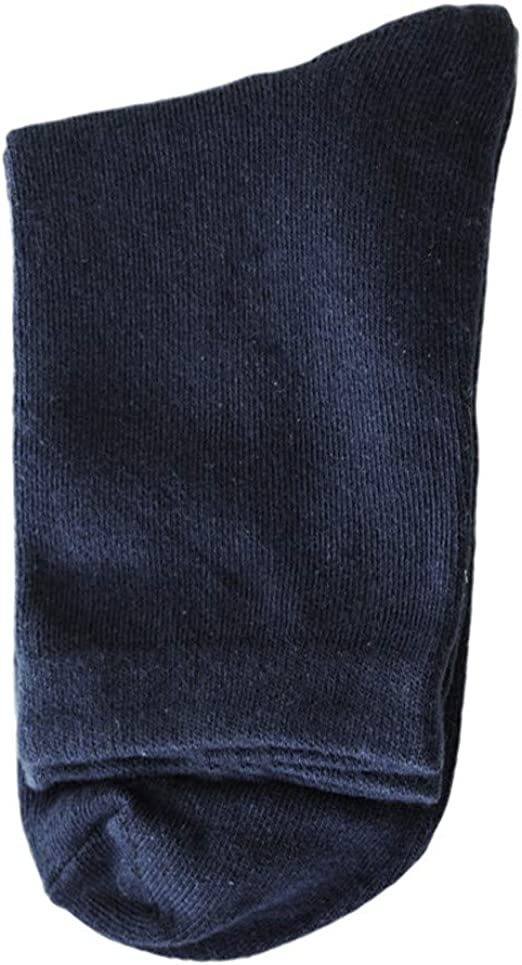 Feytuo 1 par para hombre no elástico 100% puro algodón calcetines confort suave agarre diabético: Amazon.es: Ropa y accesorios
