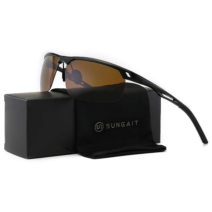 Amazon.com: Sungit HD gafas de sol polarizadas para hombres ...