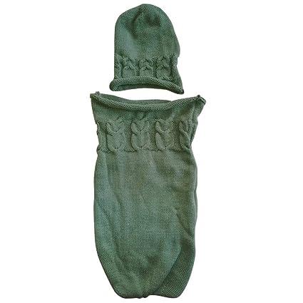 Zeside - Saco de Dormir para bebé, Manta de Crochet para bebé recién Nacido,