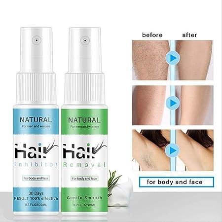 LZL Inhibidor del Crecimiento del Vello Corporal sin espray para depilación de 2 Piezas para Barba Bikini Cara piernas axila Corporal (1 Verde 1 Azul): Amazon.es: Hogar