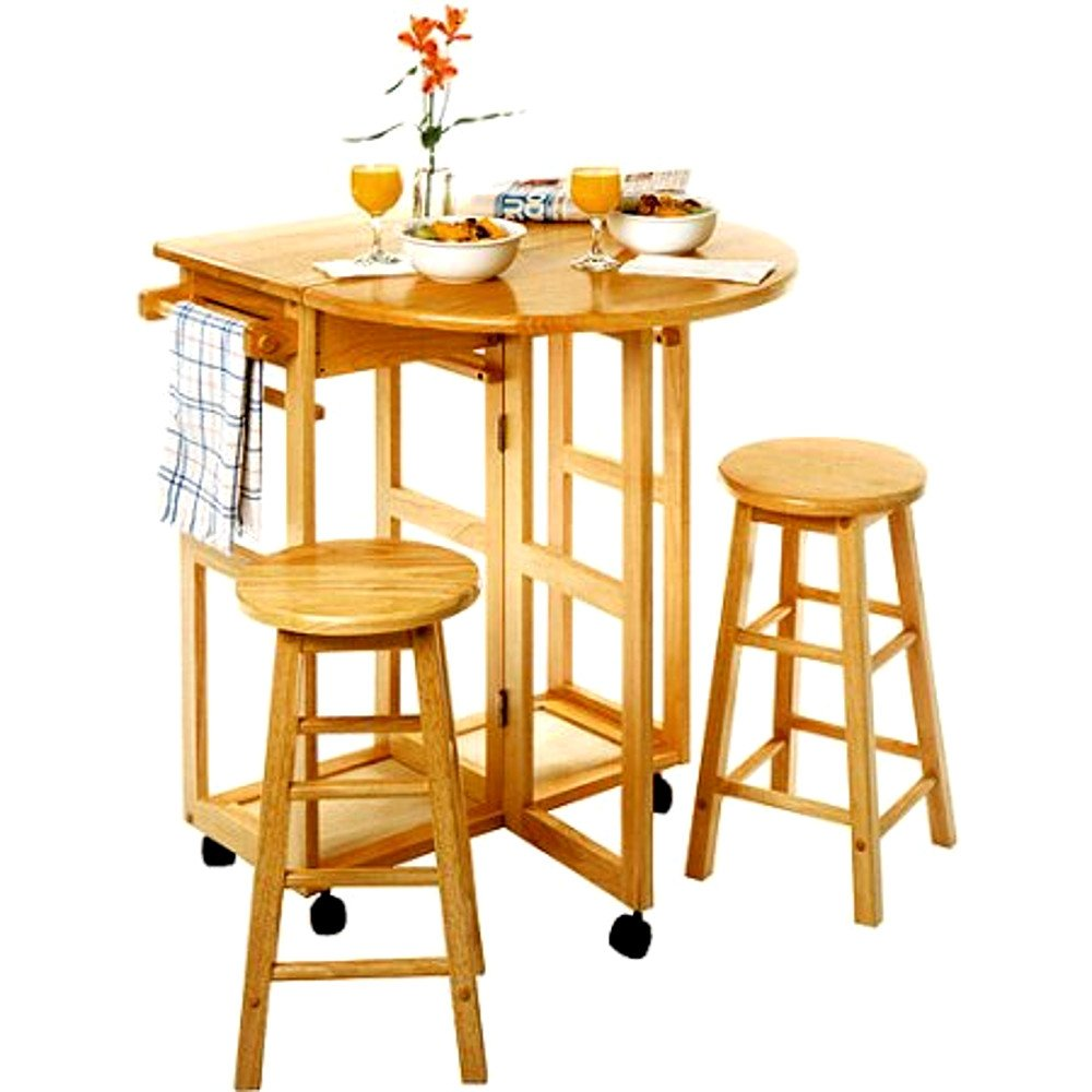 Corner Breakfast Nook Table Set, Small Wooden Kitchen Vintage Three-Piece Round Spacesaver Modern Breakfast Table Set With Stools & E-Book
