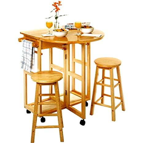 Amazon.com: Corner Breakfast Nook Table Set, Small Wooden ...