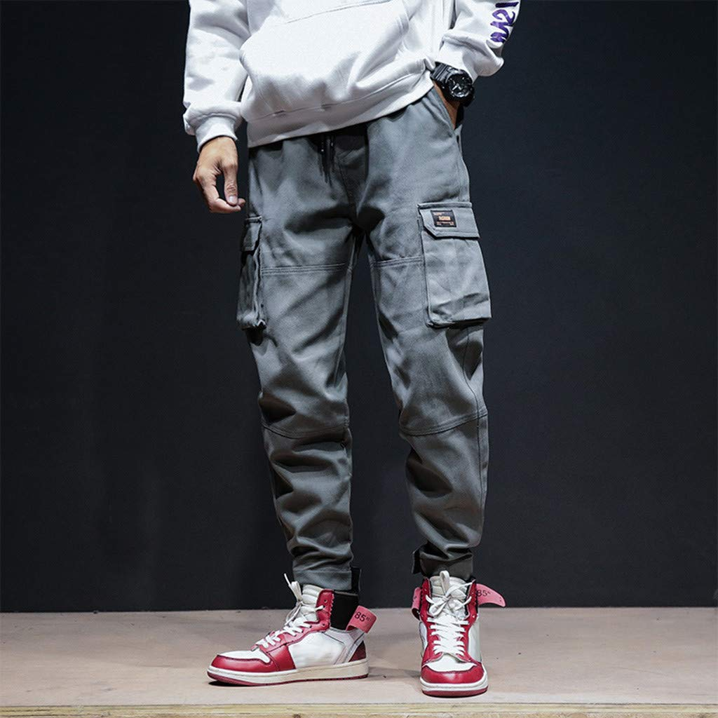 Loose Pants Stoota 2019 Newest Mens Autumn Winter Fashion Casual Overalls Slack Small Feet Trousers