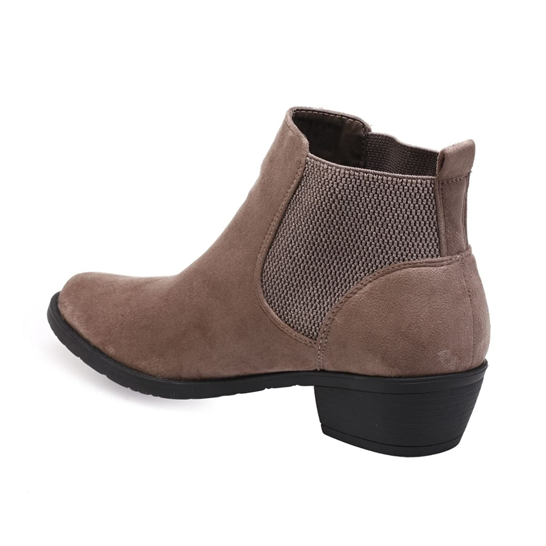 La Modeuse - Botas de Material Sintético Mujer, gris (marrón), 41 EU