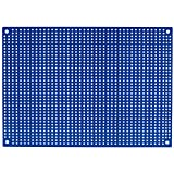 """Parts Express Blue Perforated Large Hole Crossover Board Pair 5"""" x 7"""""""
