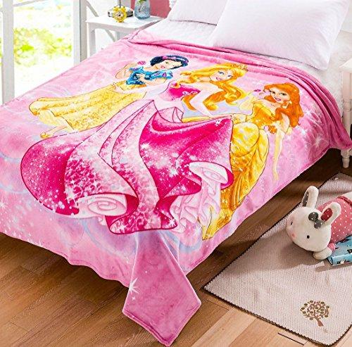 Three Princess Fleece Throw Blanket 70.86'' - 78.74'' approx
