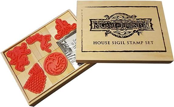 Juego de Tronos Sigil Sello & Inkpad Set Caja de Regalo GOT House ...