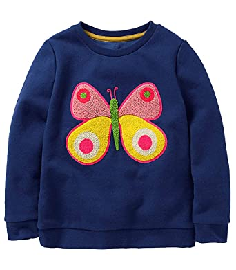 dcfcda81 Girls Sweatshirt for Kids Cotton Top Casual Jumper Girl T Shirt Toddler  Clothes Long Sleeve Pullover Winter Spring Age 2-8 Years: Amazon.co.uk:  Clothing